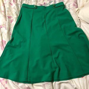 Green A line flirty skirt